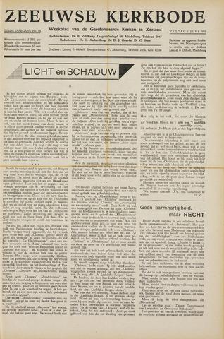 Zeeuwsche kerkbode, weekblad gewijd aan de belangen der gereformeerde kerken/ Zeeuwsch kerkblad 1951-06-01