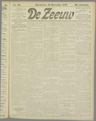De Zeeuw. Christelijk-historisch nieuwsblad voor Zeeland 1916-12-21