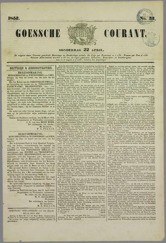 Goessche Courant 1852-04-22