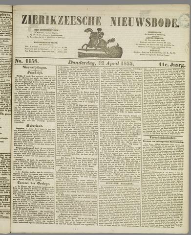 Zierikzeesche Nieuwsbode 1855-04-12