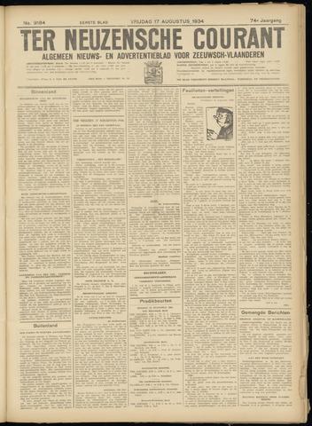 Ter Neuzensche Courant. Algemeen Nieuws- en Advertentieblad voor Zeeuwsch-Vlaanderen / Neuzensche Courant ... (idem) / (Algemeen) nieuws en advertentieblad voor Zeeuwsch-Vlaanderen 1934-08-17