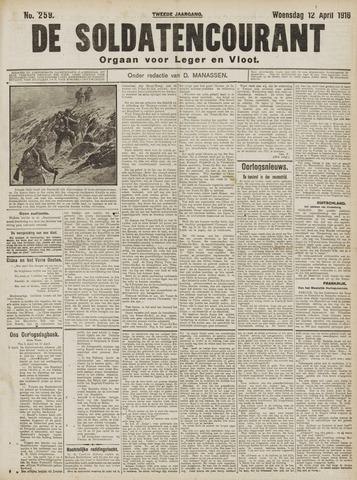 De Soldatencourant. Orgaan voor Leger en Vloot 1916-04-12
