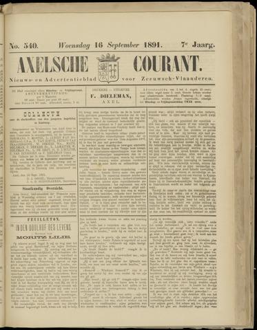 Axelsche Courant 1891-09-16