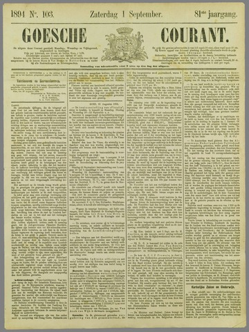Goessche Courant 1894-09-01