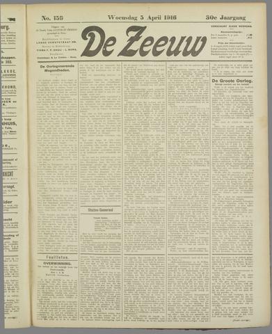 De Zeeuw. Christelijk-historisch nieuwsblad voor Zeeland 1916-04-05