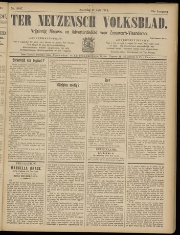 Ter Neuzensch Volksblad. Vrijzinnig nieuws- en advertentieblad voor Zeeuwsch- Vlaanderen / Zeeuwsch Nieuwsblad. Nieuws- en advertentieblad voor Zeeland 1914-07-11