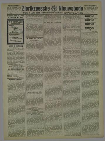 Zierikzeesche Nieuwsbode 1923-04-06
