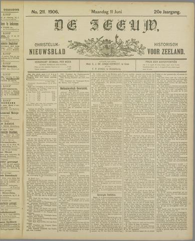 De Zeeuw. Christelijk-historisch nieuwsblad voor Zeeland 1906-06-11