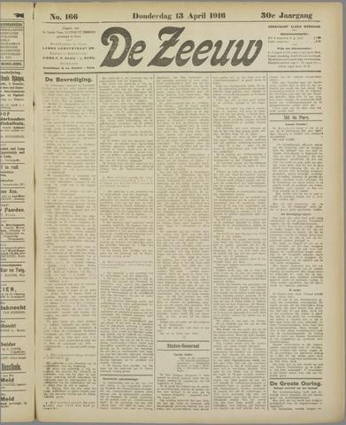 De Zeeuw. Christelijk-historisch nieuwsblad voor Zeeland 1916-04-13