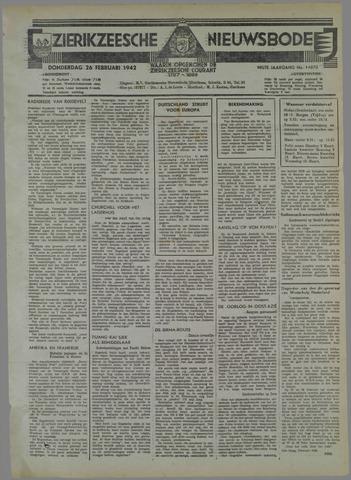 Zierikzeesche Nieuwsbode 1942-02-26
