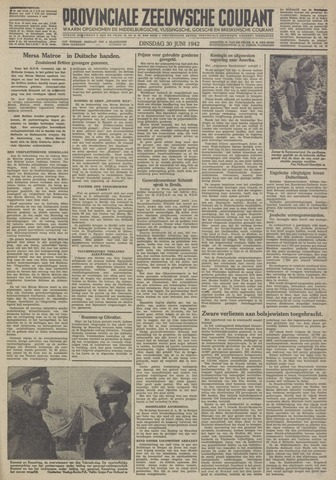 Provinciale Zeeuwse Courant 1942-06-30