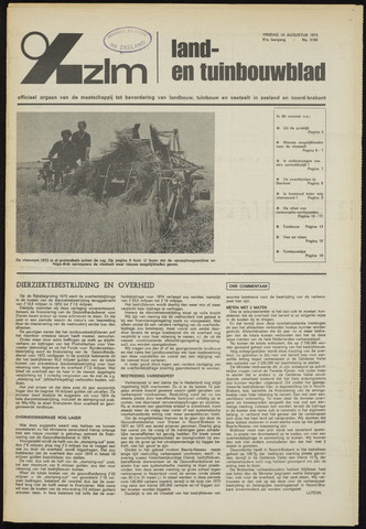 Zeeuwsch landbouwblad ... ZLM land- en tuinbouwblad 1973-08-10