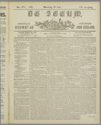 De Zeeuw. Christelijk-historisch nieuwsblad voor Zeeland 1910-06-13