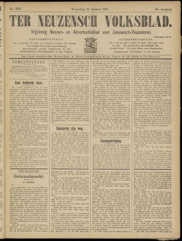 Ter Neuzensch Volksblad. Vrijzinnig nieuws- en advertentieblad voor Zeeuwsch- Vlaanderen / Zeeuwsch Nieuwsblad. Nieuws- en advertentieblad voor Zeeland 1912-01-24
