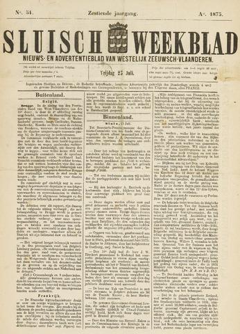 Sluisch Weekblad. Nieuws- en advertentieblad voor Westelijk Zeeuwsch-Vlaanderen 1875-07-23