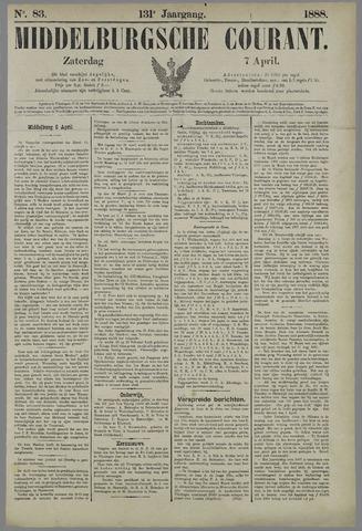 Middelburgsche Courant 1888-04-07