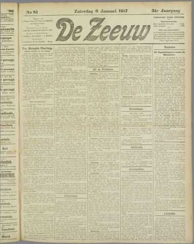 De Zeeuw. Christelijk-historisch nieuwsblad voor Zeeland 1917-01-06