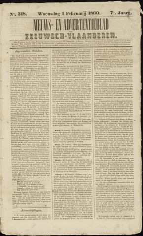 Ter Neuzensche Courant. Algemeen Nieuws- en Advertentieblad voor Zeeuwsch-Vlaanderen / Neuzensche Courant ... (idem) / (Algemeen) nieuws en advertentieblad voor Zeeuwsch-Vlaanderen 1860-02-01