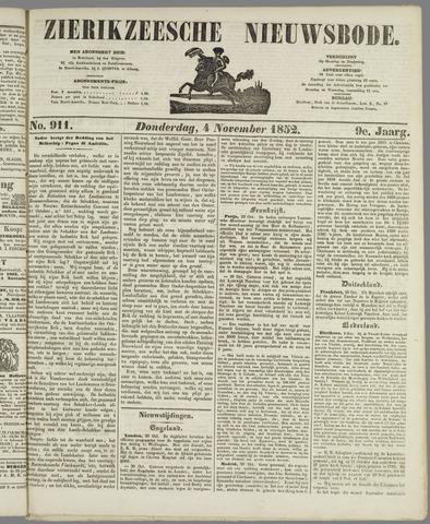 Zierikzeesche Nieuwsbode 1852-11-04