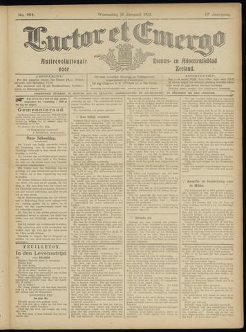 Luctor et Emergo. Antirevolutionair nieuws- en advertentieblad voor Zeeland / Zeeuwsch-Vlaanderen. Orgaan ter verspreiding van de christelijke beginselen in Zeeuwsch-Vlaanderen 1913-01-15