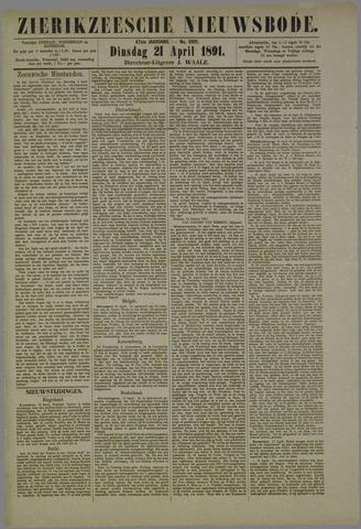 Zierikzeesche Nieuwsbode 1891-04-21