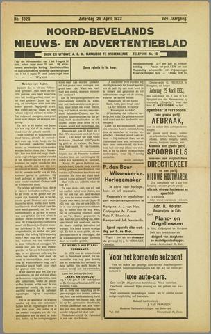 Noord-Bevelands Nieuws- en advertentieblad 1933-04-29