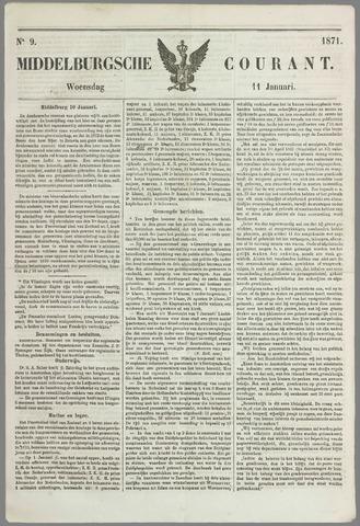 Middelburgsche Courant 1871-01-11