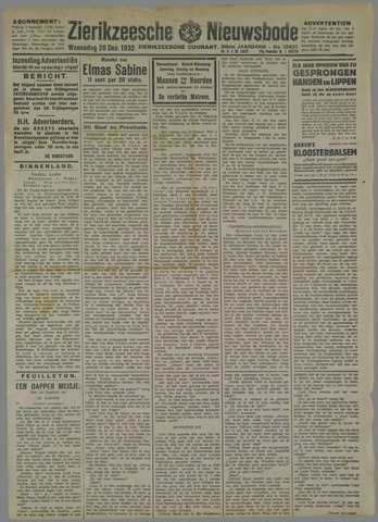 Zierikzeesche Nieuwsbode 1932-12-28