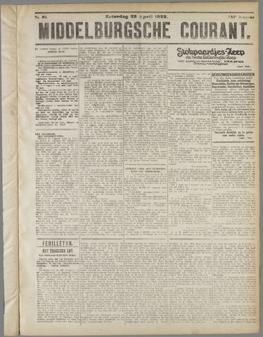 Middelburgsche Courant 1922-04-22