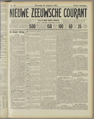 Nieuwe Zeeuwsche Courant 1914-08-19
