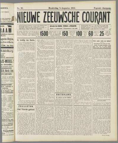 Nieuwe Zeeuwsche Courant 1913-08-07