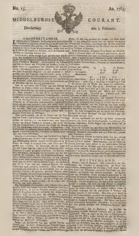 Middelburgsche Courant 1763-02-03