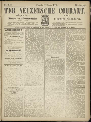 Ter Neuzensche Courant. Algemeen Nieuws- en Advertentieblad voor Zeeuwsch-Vlaanderen / Neuzensche Courant ... (idem) / (Algemeen) nieuws en advertentieblad voor Zeeuwsch-Vlaanderen 1889-10-09