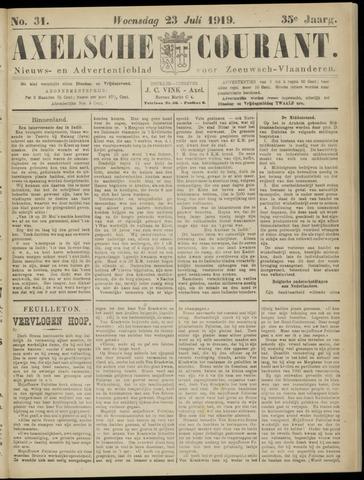 Axelsche Courant 1919-07-23