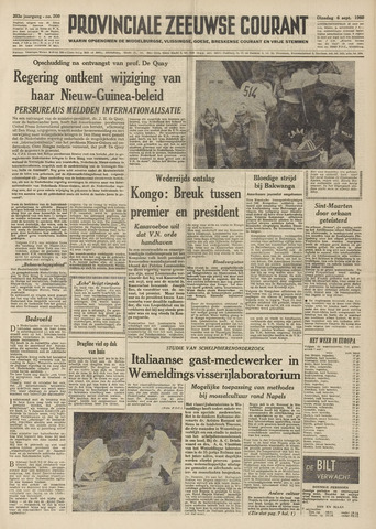 Provinciale Zeeuwse Courant 1960-09-06