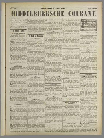 Middelburgsche Courant 1919-07-31