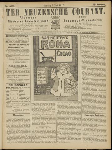 Ter Neuzensche Courant. Algemeen Nieuws- en Advertentieblad voor Zeeuwsch-Vlaanderen / Neuzensche Courant ... (idem) / (Algemeen) nieuws en advertentieblad voor Zeeuwsch-Vlaanderen 1912-05-07