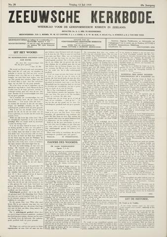 Zeeuwsche kerkbode, weekblad gewijd aan de belangen der gereformeerde kerken/ Zeeuwsch kerkblad 1935-07-12