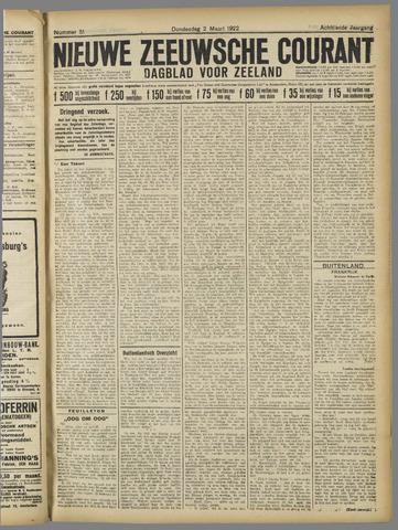 Nieuwe Zeeuwsche Courant 1922-03-02