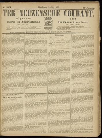 Ter Neuzensche Courant. Algemeen Nieuws- en Advertentieblad voor Zeeuwsch-Vlaanderen / Neuzensche Courant ... (idem) / (Algemeen) nieuws en advertentieblad voor Zeeuwsch-Vlaanderen 1896-07-02