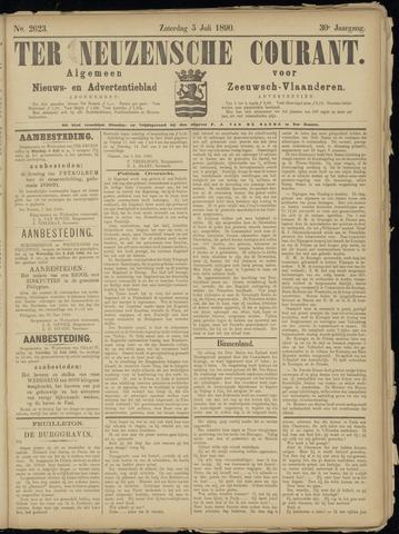 Ter Neuzensche Courant. Algemeen Nieuws- en Advertentieblad voor Zeeuwsch-Vlaanderen / Neuzensche Courant ... (idem) / (Algemeen) nieuws en advertentieblad voor Zeeuwsch-Vlaanderen 1890-07-05