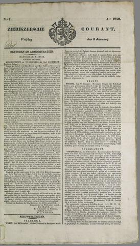 Zierikzeesche Courant 1840