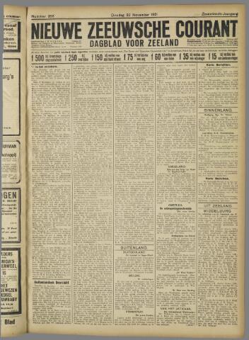 Nieuwe Zeeuwsche Courant 1921-11-22