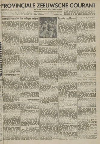 Provinciale Zeeuwse Courant 1943-11-10