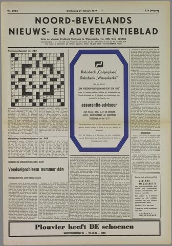 Noord-Bevelands Nieuws- en advertentieblad 1974-02-21