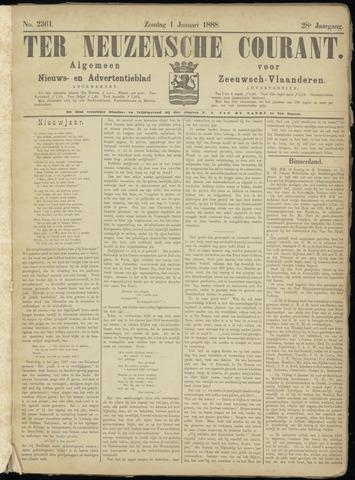 Ter Neuzensche Courant. Algemeen Nieuws- en Advertentieblad voor Zeeuwsch-Vlaanderen / Neuzensche Courant ... (idem) / (Algemeen) nieuws en advertentieblad voor Zeeuwsch-Vlaanderen 1888-01-01