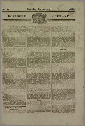 Goessche Courant 1842-07-18