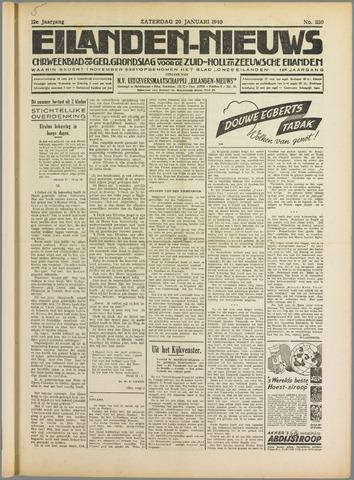 Eilanden-nieuws. Christelijk streekblad op gereformeerde grondslag 1940-01-20
