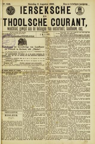 Ierseksche en Thoolsche Courant 1903-08-08