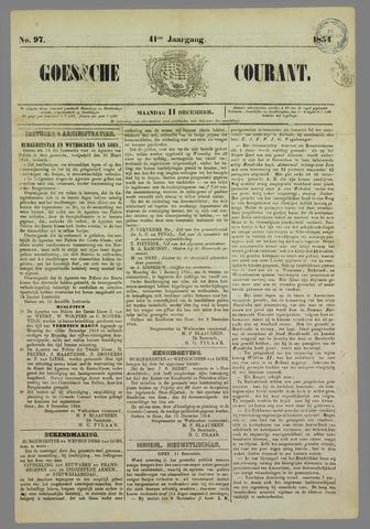 Goessche Courant 1854-12-11